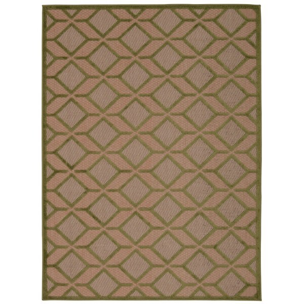 Rug Squared Kona Indoor/Outdoor Green Rug - 7'10 x 10'6