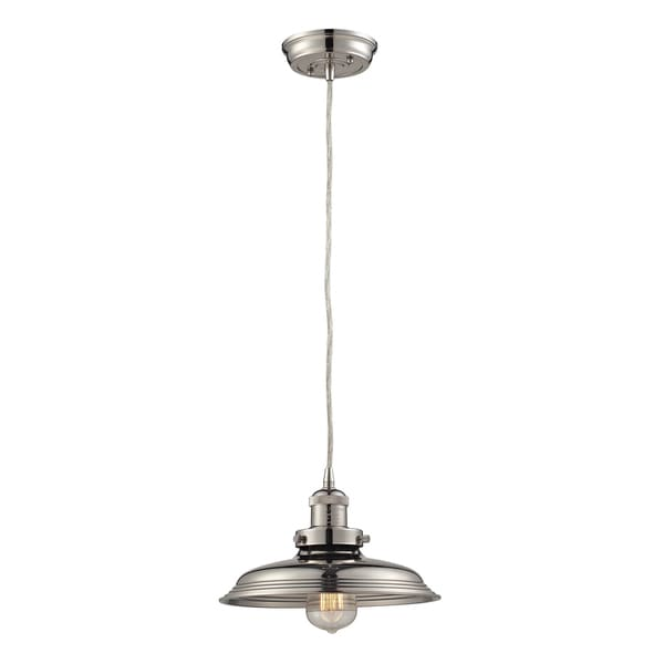 Elk Lighting Newberry 1-light Polished Nickel Mini Pendant - Silver