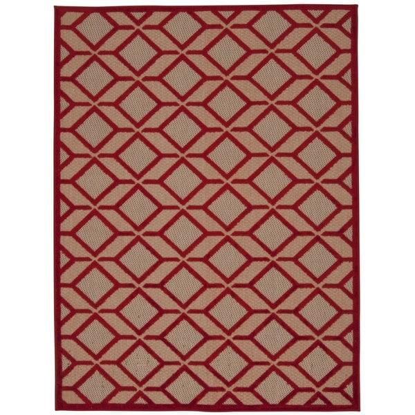 Rug Squared Kona Indoor/Outdoor Red Rug - 9'6 x 13'
