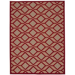 Rug Squared Kona Indoor/Outdoor Red Rug (9'6 x 13')