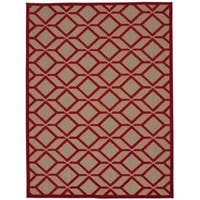 Rug Squared Kona Indoor/Outdoor Red Rug (9'6 x 13')