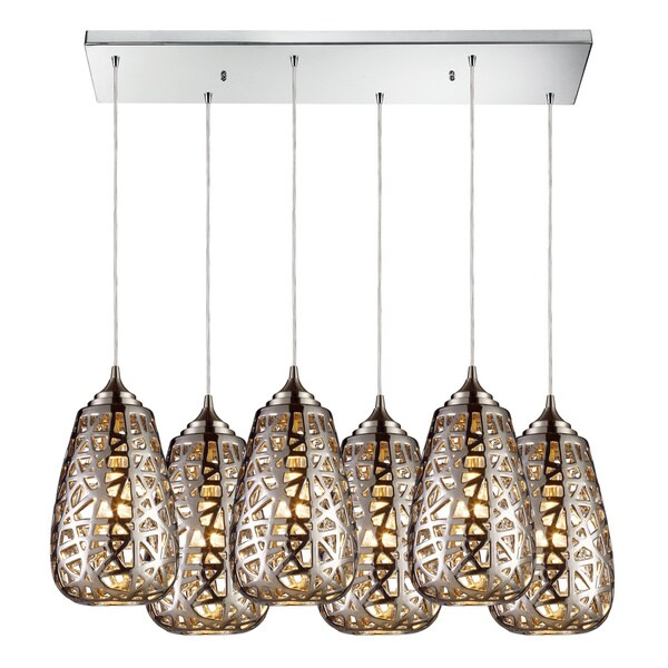 Elk Lighting Nestor 6-light Polished Chrome Pendant