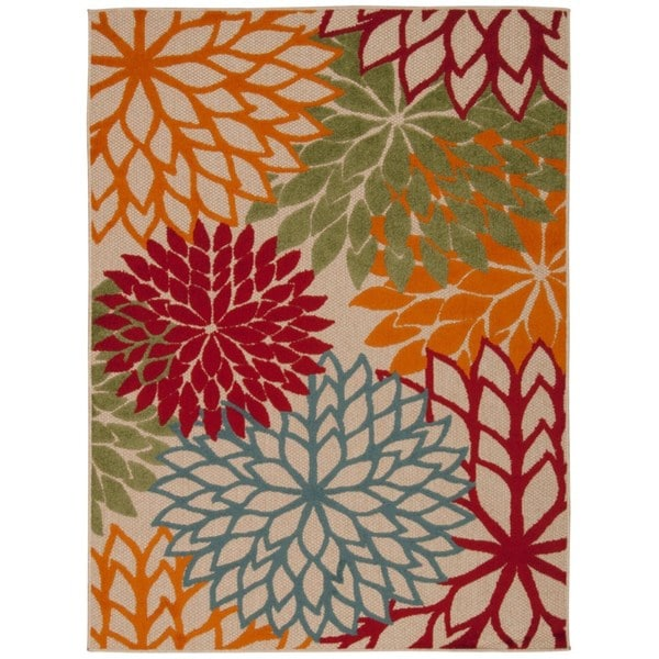 Rug Squared Kona Indoor/Outdoor Green Rug (5'3 x 7'5)