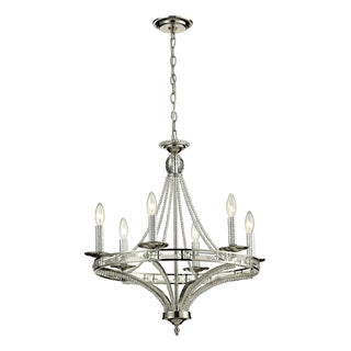 Elk Lighting Aubree 6-light Polished Nickel Chandelier