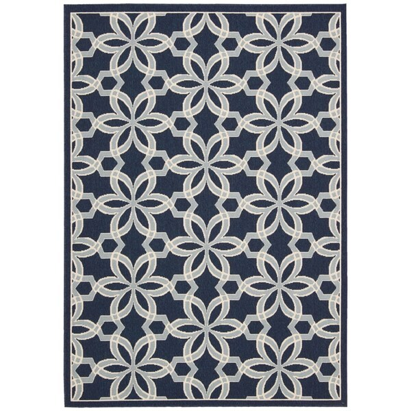 Rug Squared Jupiter Indoor/Outdoor Navy Rug - 7'10 x 10'6