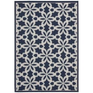 Rug Squared Jupiter Indoor/Outdoor Navy Rug (7'10 x 10'6)|https://ak1.ostkcdn.com/images/products/9567264/P16752834.jpg?impolicy=medium