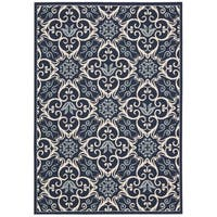 Rug Squared Jupiter Indoor/Outdoor Navy Rug