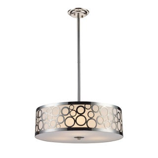 Elk Lighting Retrovia 3-light Polished Nickel Chandelier