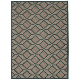 Rug Squared Kona Indoor/Outdoor Blue Rug (3'6 x 5'6)