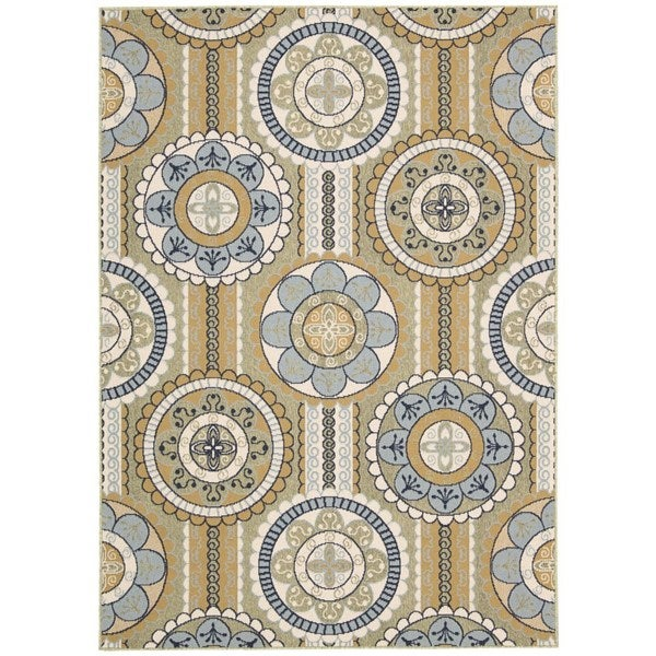 Rug Squared Jupiter Indoor/Outdoor Yellow Rug (9'3 x 12'9)