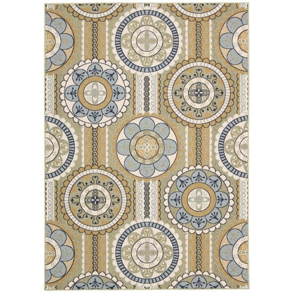 Rug Squared Jupiter Indoor/Outdoor Yellow Rug (7'10 x 10'6)