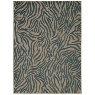 Rug Squared Kona Indoor/Outdoor Blue Rug (5'3 x 7'5)