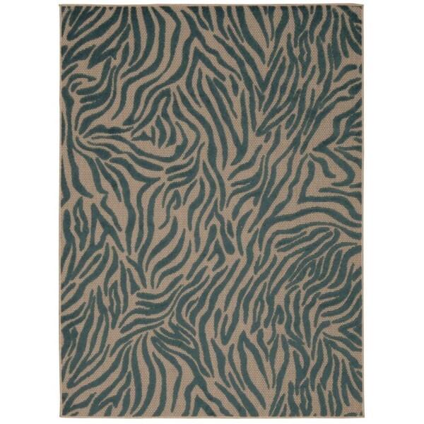 Rug Squared Kona Indoor/Outdoor Blue Rug (7u0026#39;10 x 10u0026#39;6) - Free Shipping Today - Overstock.com ...