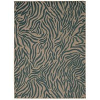 Rug Squared Kona Indoor/Outdoor Blue Rug - 9'6 x 13'
