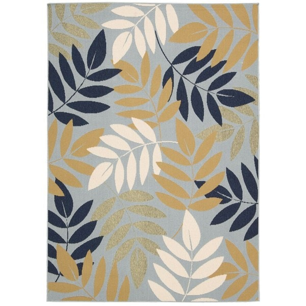 Rug Squared Jupiter Indoor/Outdoor Blue Rug