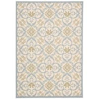 Rug Squared Jupiter Indoor/Outdoor Ivory Blue Rug