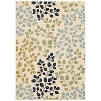 "Rug Squared Jupiter Indoor/Outdoor Ivory Rug - 3'11"" x 5'11"""
