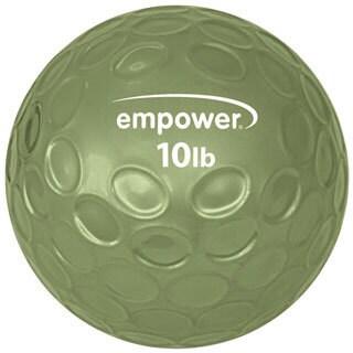Empower Fitness 10-pound Comfort Grip Medicine Ball with DVD