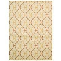 Rug Squared Carlsbad Ivory/ Yellow Rug (7'10 x 10'6) - 7'10 X 10'6