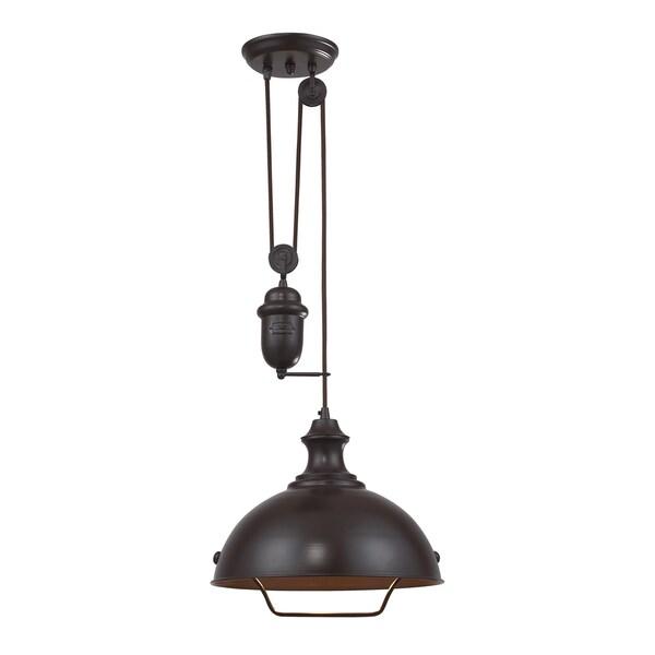 Elk Lighting Farmhouse Single light Oiled Bronze Pendant Free Shipping Toda