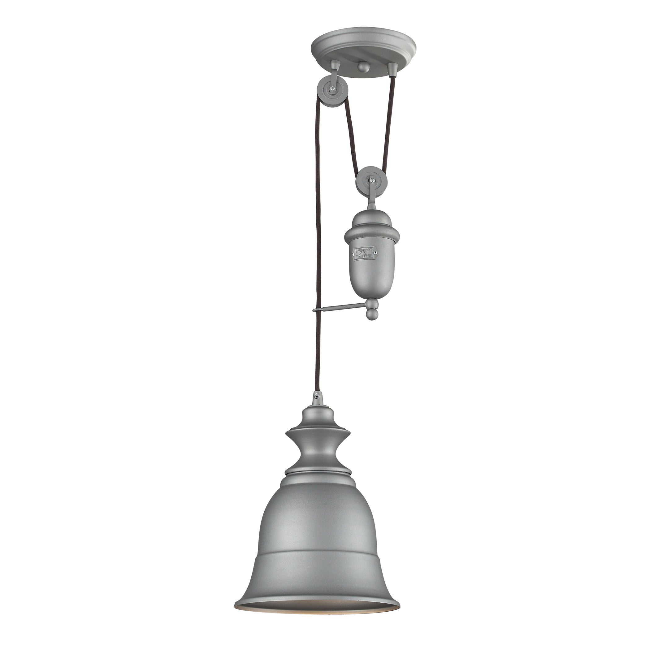 Elk Lighting Farmhouse Single-light Aged Pewter (Silver) ...