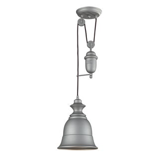 Elk Lighting Farmhouse Single-light Aged Pewter Pendant