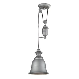 Elk Lighting Farmhouse Single-light Aged Pewter Pendant