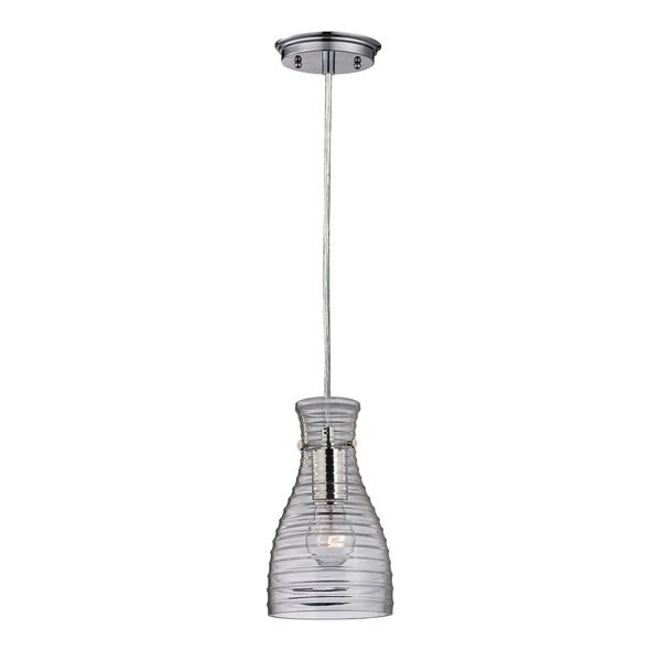 Elk Lighting Strata Single-light Polished Chrome Mini Pendant