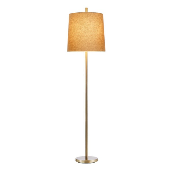 Jayne Floor Lamp 1-light in Satin Steel