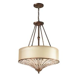 Elk Lighting Crystal Spring Spanish Bronze and Crystal 4-Light Pendant