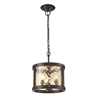 Elk Lighting 'Chandler' 3-Light Oil-rubbed Bronze Pendant