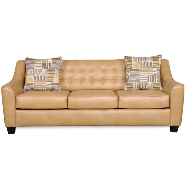 Celeste Camel Brown Bonded Leather Sofa - Free Shipping Today - Overstock.com - 16753957