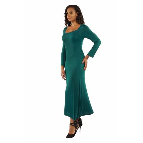 24/7 Comfort Apparel Women's Long Sleeve Maxi Dress