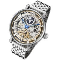 Rougois Men's Moonphase Dual Time Zone Automatic Watch