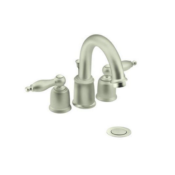 Shop moen castleby satine 2 handle high arc lavatory faucet trim free shipping today for Moen castleby bathroom faucet