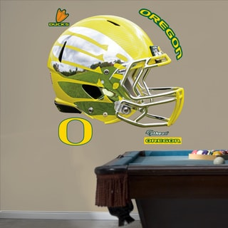 Fathead Oregon Liquid Yellow Helmet Wall Decals