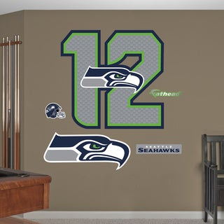 Fathead Seattle Seahawks 12th Man Logo Wall Decals