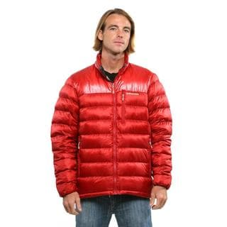 Patagonia Men's Cochineal Red Fitz Roy Down Jacket