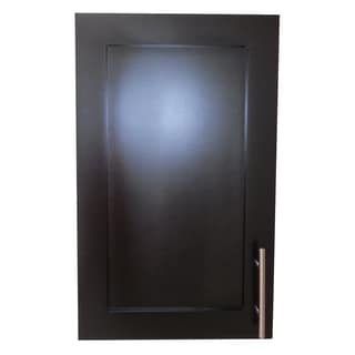 18-inch Recessed Shallow Depth Classic Frameless Cabinet - 2.5 inches Deep - Black