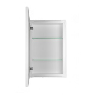 34-inch Recessed Standard Depth Classic Frameless Cabinet - 3.5 inches Deep - White Enamel