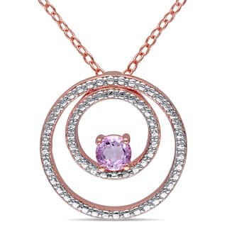 Miadora Rose Plated Silver Rose de France Circle Necklace https://ak1.ostkcdn.com/images/products/9569638/P16757940.jpg?impolicy=medium