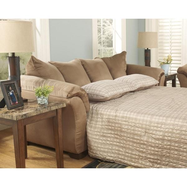 Shop Darcy Mocha Brown Contemporary Sofa Free Shipping