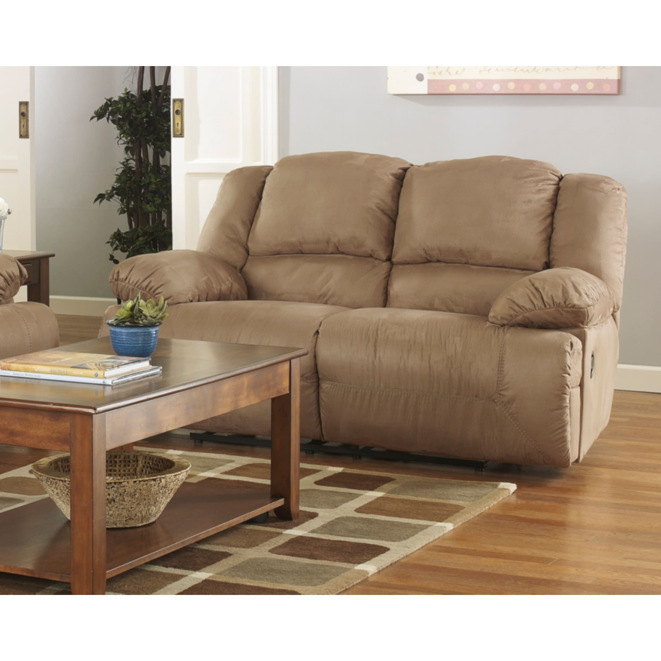 Ashley Hogan Mocha Reclining Loveseat (Hogan Mocha Reclin...