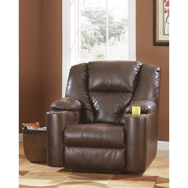 Signature Designs by Ashley 'Paramount' Brown Brindle Zero Wall Recliner