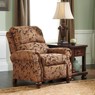Signature Designs by Ashley 'Hutcherson' Spice Paisley Brown Low Leg Recliner