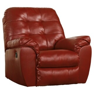 Signature Designs by Ashley, Alliston Red DuraBlend Rocker Recliner