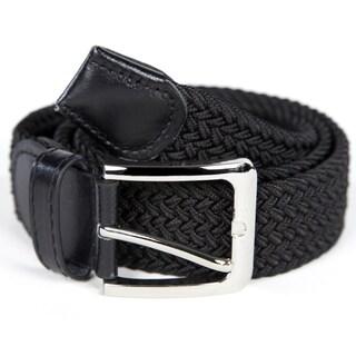 Men's Woven Nylon Stretch Belt (Option: Black X-Large 42-44 inch waist)