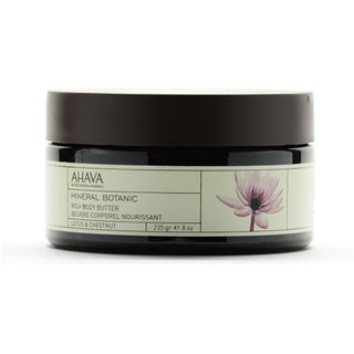 Ahava Mineral Botanic Lotus and Chestnut Rich 8-ounce Body Butter
