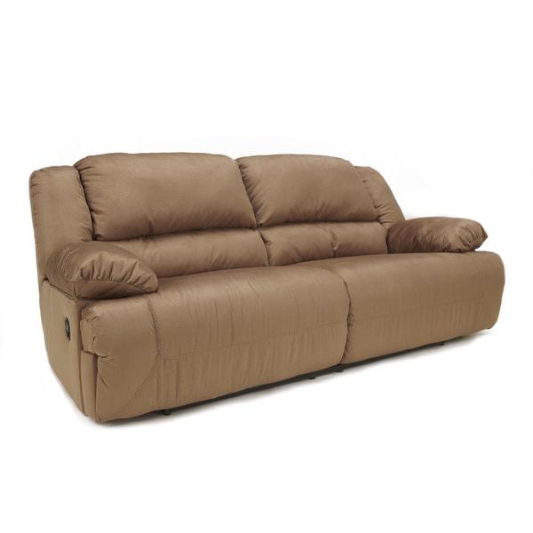 Signature Design By Ashley Hogan Mocha Two Seat Reclining Sofa