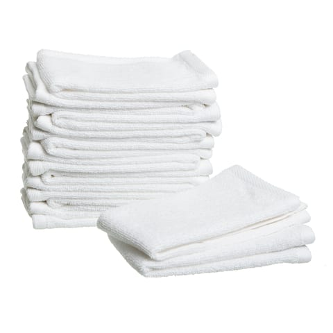 Lucia Minelli Turkish Cotton 13 x 13-inch Wash Cloths (Set of 12)